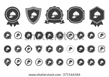 covered plate  icon - stock vector