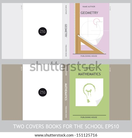 Covers for Geometry and Mathematics books - stock vector