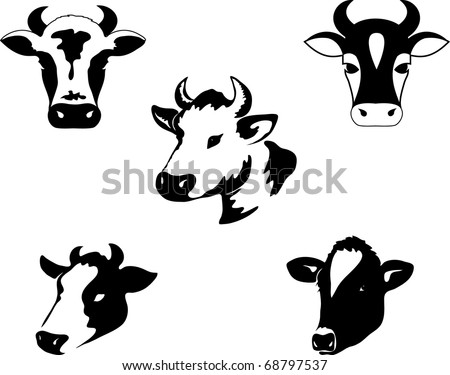 Cow. - stock vector