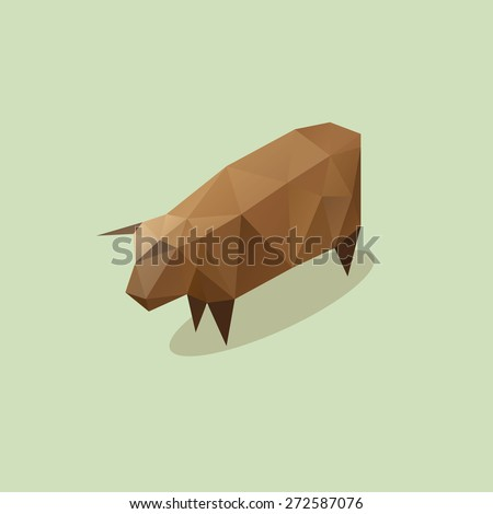 Cow abstract isolated on a white backgrounds, vector illustration - stock vector