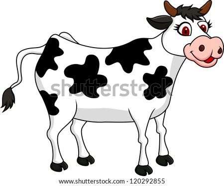 Cow cartoon stock vector 120292855 shutterstock - Dessin vache humour ...