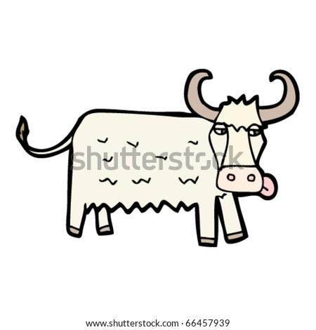 cow cartoon - stock vector