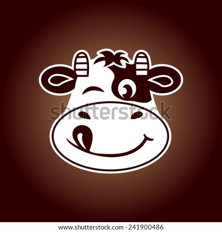 Cow face vector - stock vector