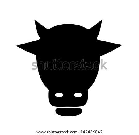 Cow icon isolated on white background. Vector illustration. - stock vector