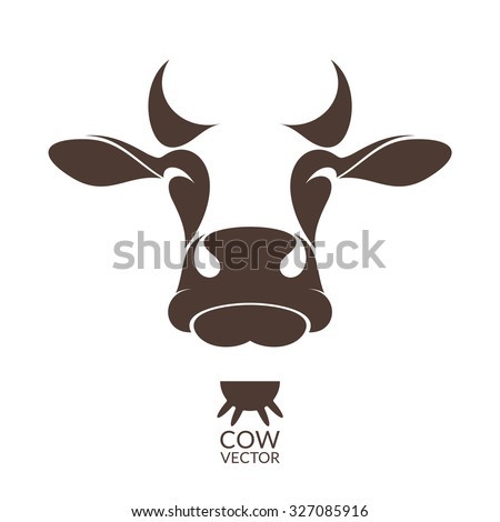 Cow. Isolated animal on white background - stock vector