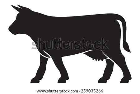 Cow vector icon - stock vector