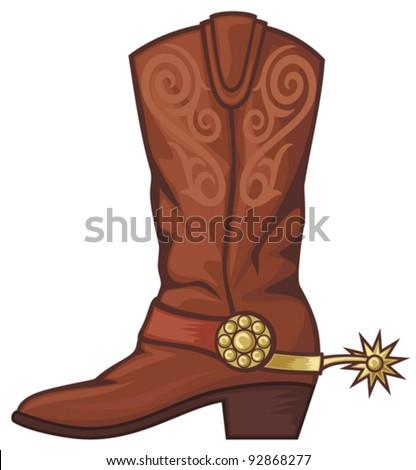 cowboy boot - stock vector