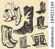 Cowboy Boot Collection - stock photo
