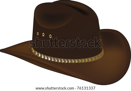 Cowboy cap - stock vector