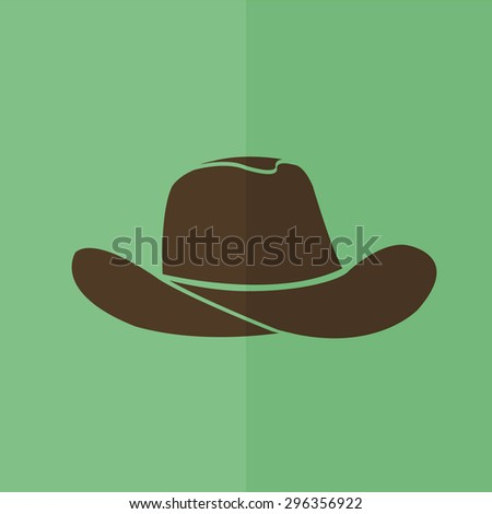 cowboy hat vector icon. Flat design - stock vector