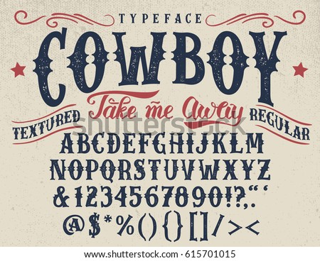 Handcrafted Retro Textured Regular Typeface Vintage Font Design