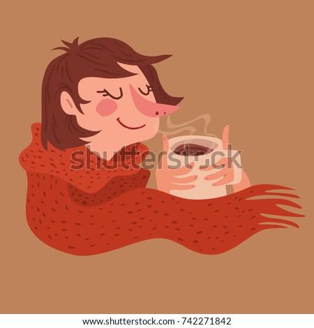 Cozy Warm Coffee Girl