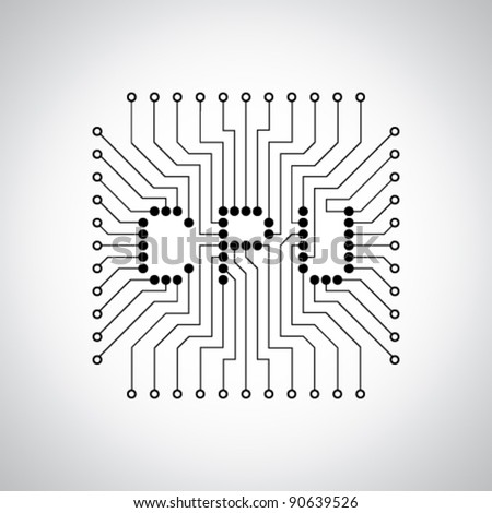CPU - stock vector
