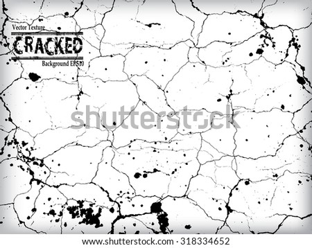 Crack Grunge Urban Background.Texture Vector.Dust Overlay Distress Grain ,Simply Place illustration over any Object to Create grungy Effect .abstract,splattered , dirty,poster for your design.