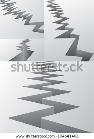 Crack set - stock vector
