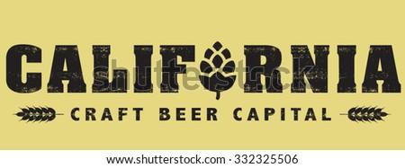 craft beer - stock vector