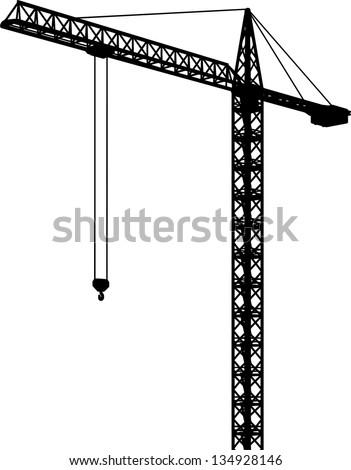 crane - stock vector