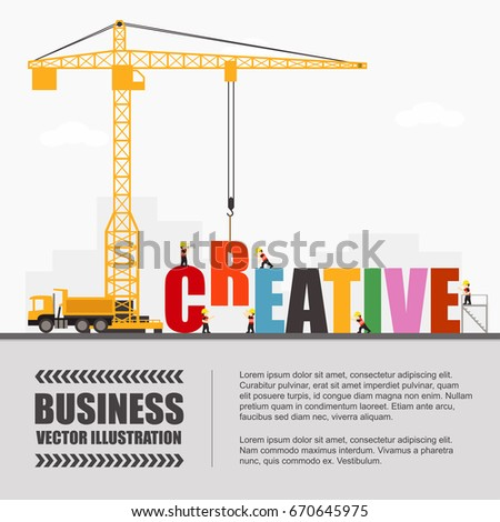 Crane Creative Building Infographic Template Vector Stock Vector ...