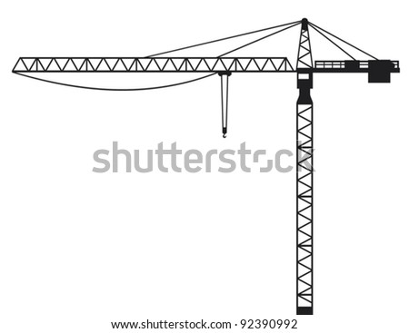 Crane (building crane, tower crane) - stock vector