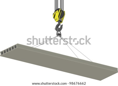 Crane Hook and hollow plate of overlapping isolated on a white background - stock vector