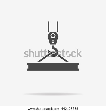 Crane hook icon. Vector concept illustration for design. - stock vector