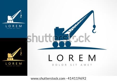 Crane symbol. vector illustration. - stock vector