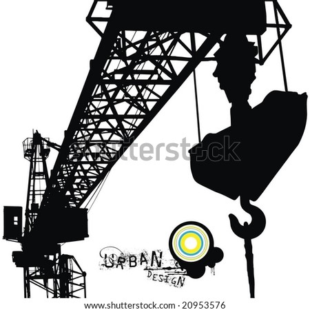 crane vector illustration for your urban design - stock vector