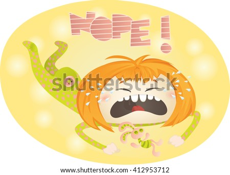 Cranky Crying Baby in Pajamas - stock vector