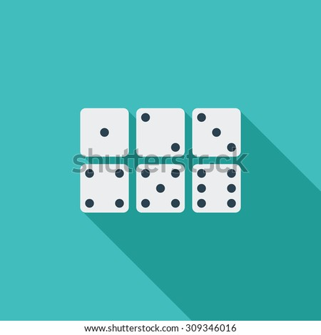Craps icon. Flat vector related icon with long shadow for web and mobile applications. It can be used as - logo, pictogram, icon, infographic element. Vector Illustration. - stock vector