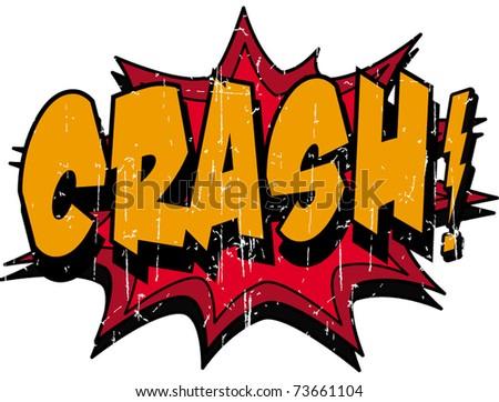 crash - stock vector
