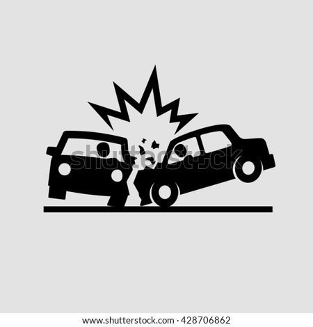 Crashed Cars vector  - stock vector