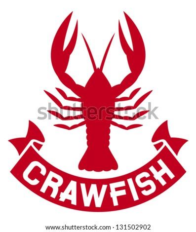 crawfish label crayfish icon lobster sign stock vector 131502902 rh shutterstock com crawfish colors crawfish mascot