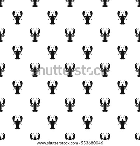 Crayfish pattern. Simple illustration of crayfish vector pattern for web design