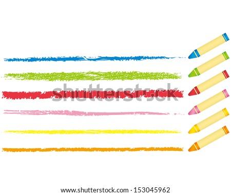 crayon collection Vector  - stock vector