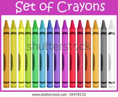 Crayons - a set of vector illustrations