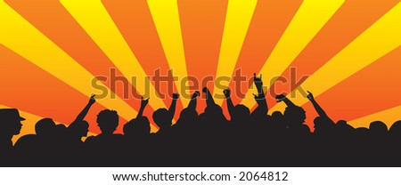 Crazy crowd vector great for a background or adding more vectors - stock vector