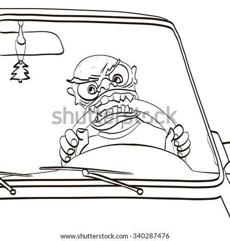 Crazy Driver Stock Vectors, Images & Vector Art | Shutterstock