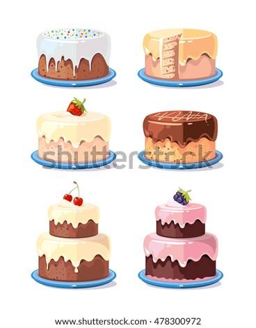 Cake Cartoon Stock Images RoyaltyFree Images Vectors