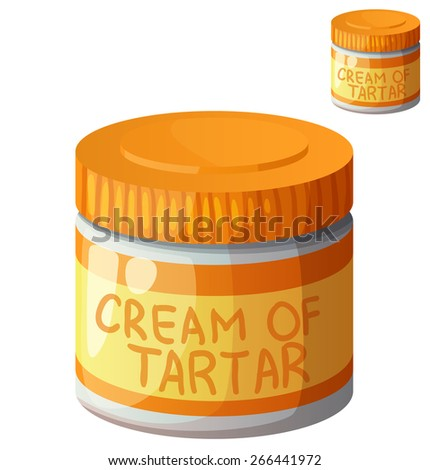 Cream of tartar isolated on white background. Detailed Vector Icon. Series of food and drink and ingredients for cooking. - stock vector