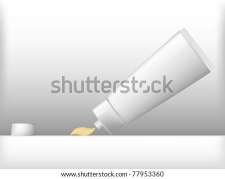 cream tube - stock vector