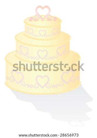 Cream Wedding Cake - stock vector
