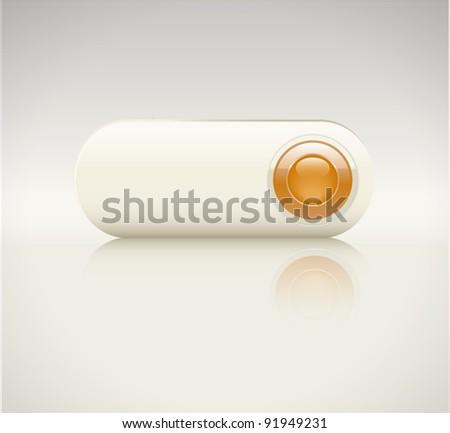 creamy button - stock vector