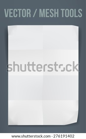 Creased paper vector background - stock vector