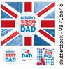 Create your own Father's Day Greeting Card and matching swing tags and pattern.  Also great for textile projects too. - stock vector