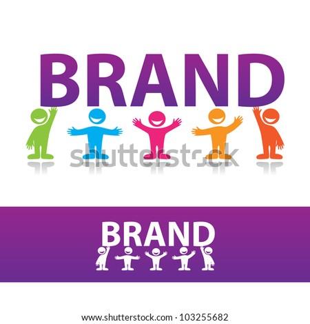 Creating a brand. Vector illustration. - stock vector