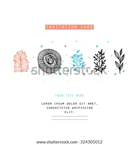 Creating card, invitation card, and other holiday and summer background. Floral abstract background. - stock vector