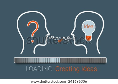 Creating idea process. Eps10 vector for your design - stock vector