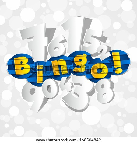 Creative Abstract Bingo With Numbers vector illustration - stock vector