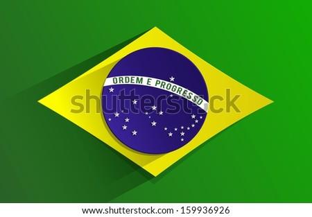 Creative Abstract Flag of Brazil Background