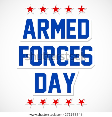 Creative abstract for Armed Forces Day with multiple red star in a beautiful white colour cloudy sky. - stock vector